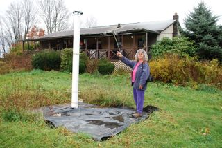 Norma's well, with Vera Scroggins