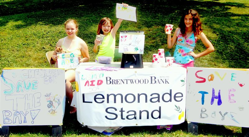Brentwood band  Save the Chesapeake lemonade stand_rb