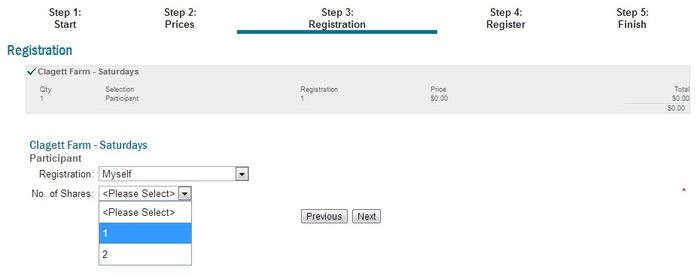 Step 3 new member registration
