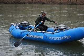 Jeff in Riverkeeper raft