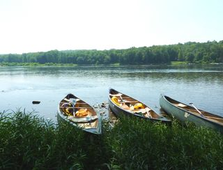 Canoes on the Water