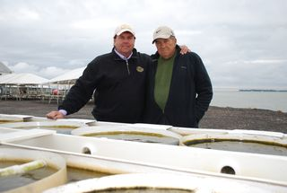 Oyster farmers Johnny and Dorsey Shockley
