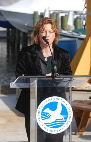 Joanne Throwe at CBF runoff pollution press conference