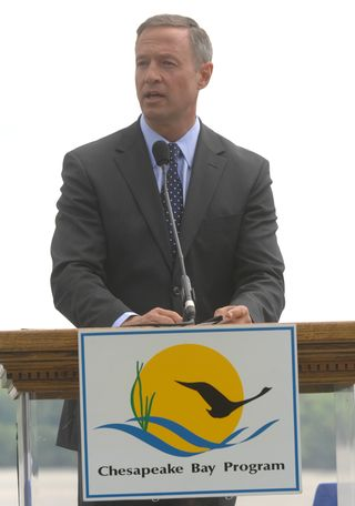 Governor O'Malley at Mount Vernon event CBF