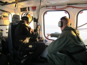Natural Resource Police in helicopter