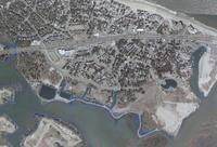 Aerial view showing location of the proposed development